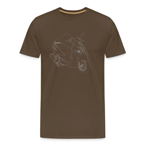 snm daelim othello outline w png - Männer Premium T-Shirt