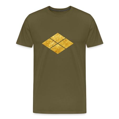 Takeda kamon Japanese samurai clan faux gold - Men's Premium T-Shirt