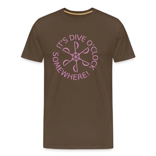 diveoclocklogodlpink png - Men's Premium T-Shirt