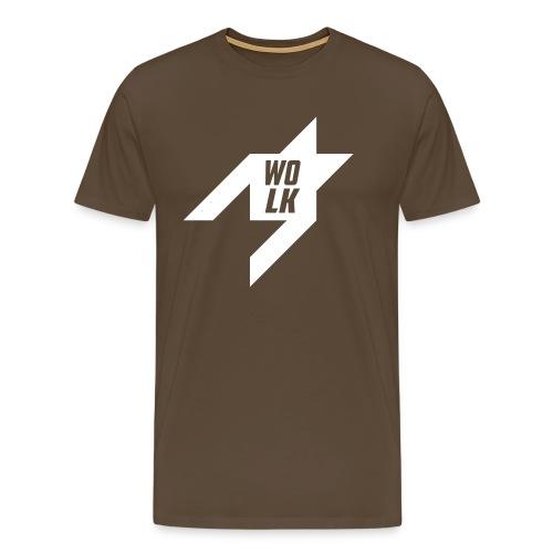 pied de poule achterkant - Mannen Premium T-shirt