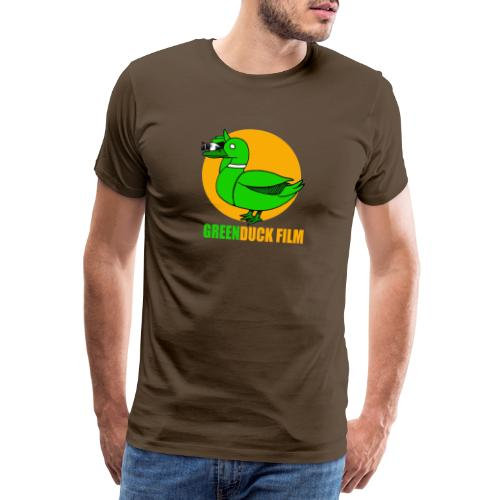 Greenduck Film Golden Sun Logo - Herre premium T-shirt