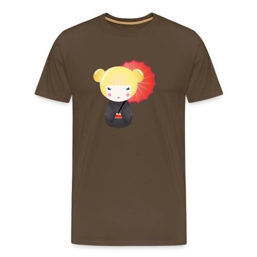 kokeshi doll 003 - Mannen Premium T-shirt