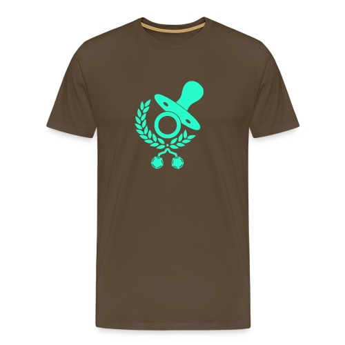 Baby Eltern Schwangere Schnuller Logo - Männer Premium T-Shirt