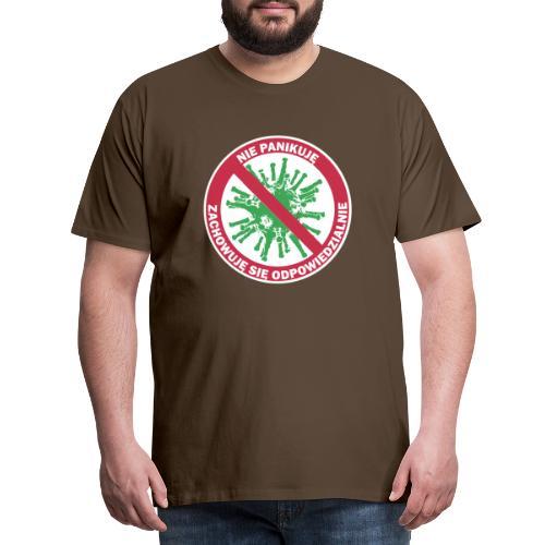 nie panikuje corona-virus - Koszulka męska Premium