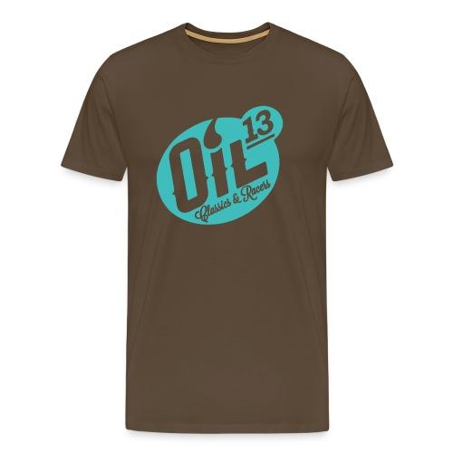 Oil13 Logo Scudo001 transparente azul 001 - Camiseta premium hombre