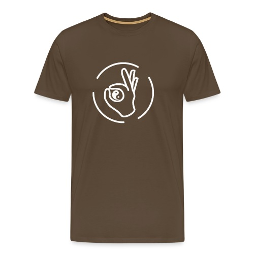 LOGO ALRIGHT Blanc - T-shirt Premium Homme