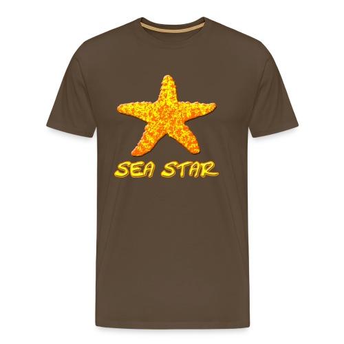 Seestern orange - Männer Premium T-Shirt