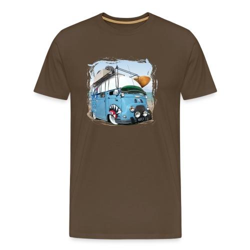 Estafette Van Surf sur la plage - T-shirt Premium Homme
