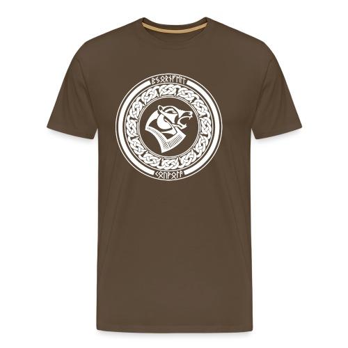 BjörnfellRisingWhite - Miesten premium t-paita