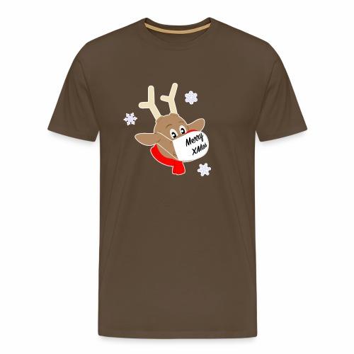 Renne Rudolph avec masque Merry XMas - T-shirt Premium Homme