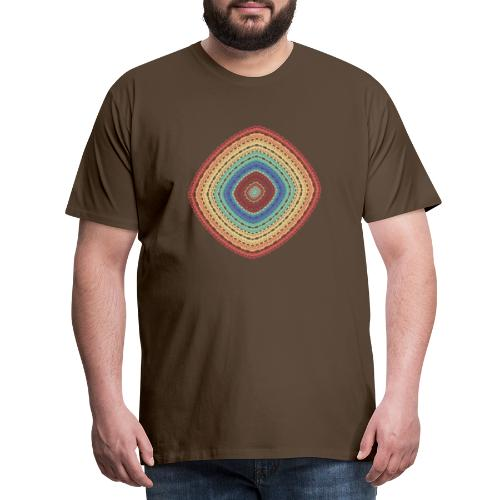 Lucky square in summery colors - Men's Premium T-Shirt