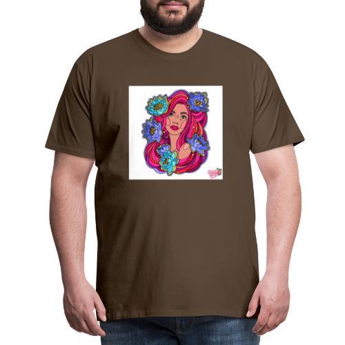 blomsterpige - Herre premium T-shirt