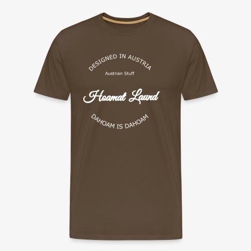 hoamatlaund mit bissl an weißen Text - Männer Premium T-Shirt