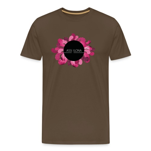 Lippis punaisella logolla - Miesten premium t-paita
