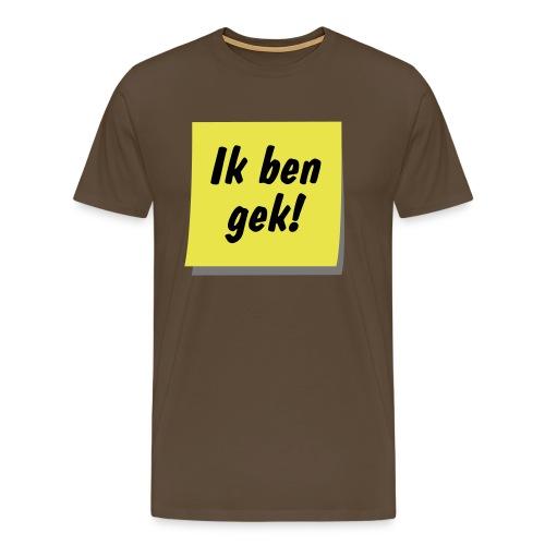 postit gek ill9 - Mannen Premium T-shirt