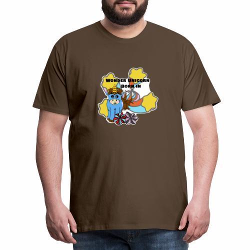 Une merveilleuse licorne est née (pour garcon) - T-shirt Premium Homme