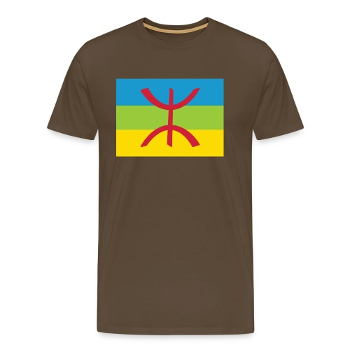 Amazigh Flag Clean - Mannen Premium T-shirt