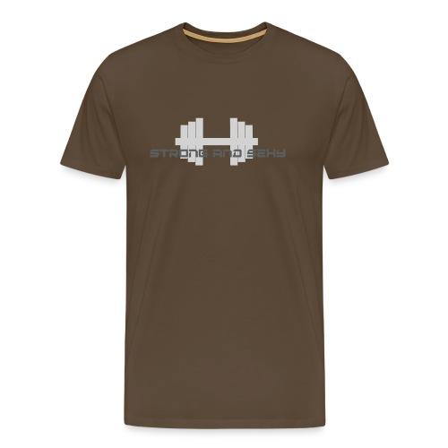 sasdumbell3 png - Mannen Premium T-shirt