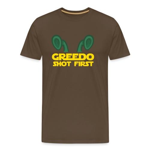GreedoShotFirst 02 - Mannen Premium T-shirt