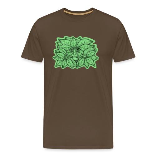Green Man for Pagan Global Warming/Climate Change - Men's Premium T-Shirt