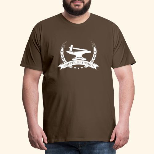 Smedöl Brygghus Logga Vit - Premium-T-shirt herr
