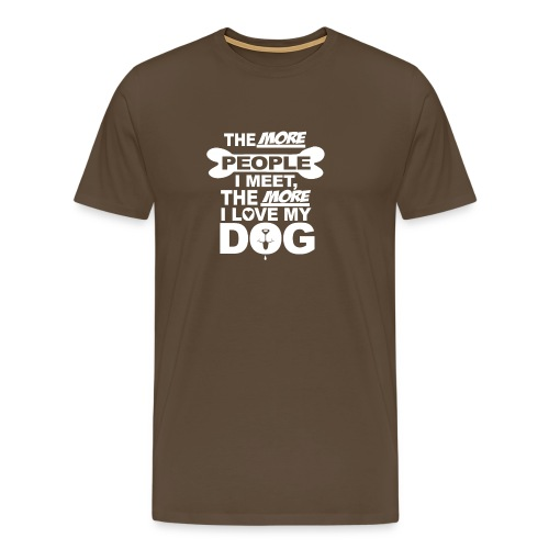 the more people love dog - T-shirt Premium Homme