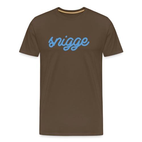 snigge schriftzug golfcap png - Männer Premium T-Shirt