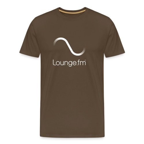 loungefm logo weiss - Männer Premium T-Shirt