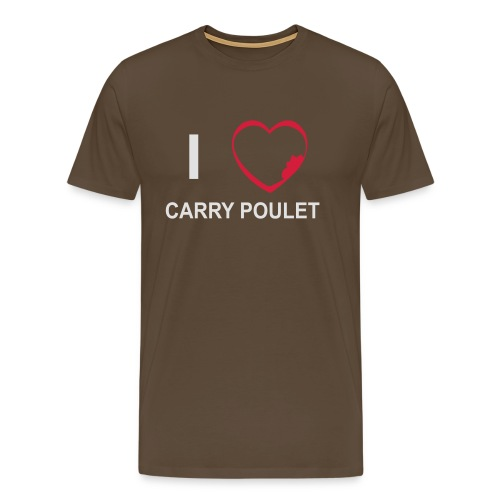 i love CARRY POULET - T-shirt Premium Homme