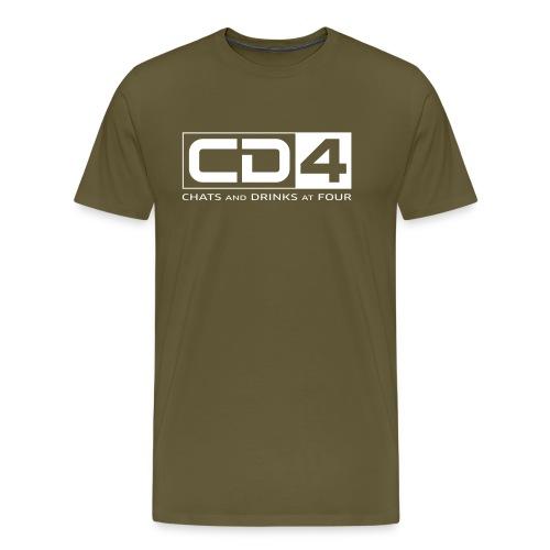 cd4 logo dikker kader bold font - Mannen Premium T-shirt