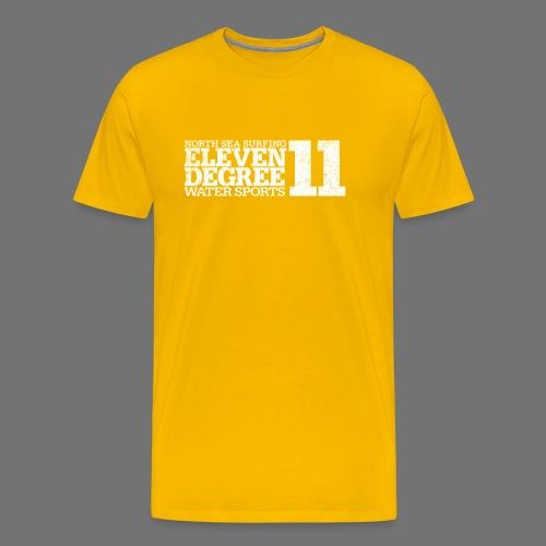 eleven degree white (oldstyle) - Men's Premium T-Shirt