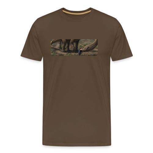 Dinosauriemuggen - Björn älskar dinosaurier! - Premium-T-shirt herr