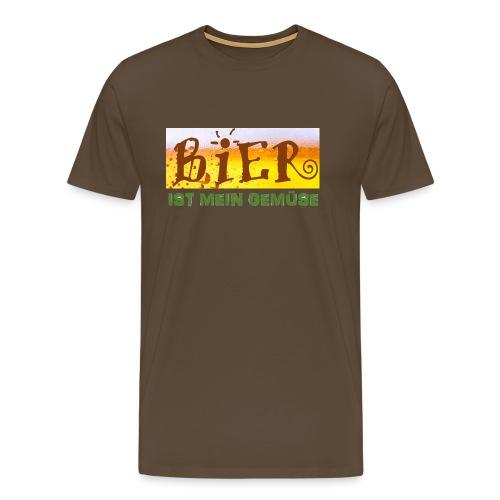 Bier ist mein Gemüse pain - Männer Premium T-Shirt