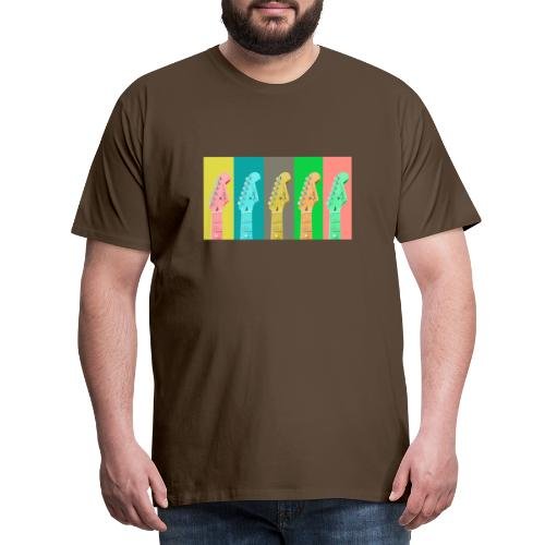 Colorful Guitar Gathering by #OneCreativeArts - Männer Premium T-Shirt