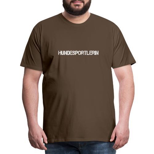 Hundesportlerin Schriftzug - Männer Premium T-Shirt