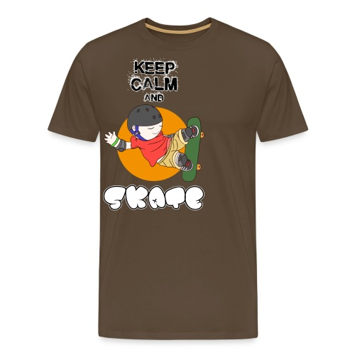 KEEP CALM AND SKATE - Camiseta premium hombre