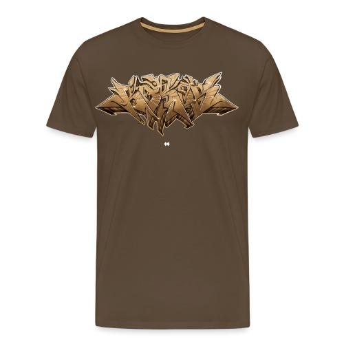 KAROS GRAFFITI SKETCH BEIGE - Männer Premium T-Shirt