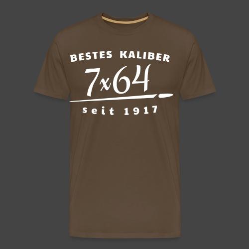 7x64 vintage raw - Männer Premium T-Shirt