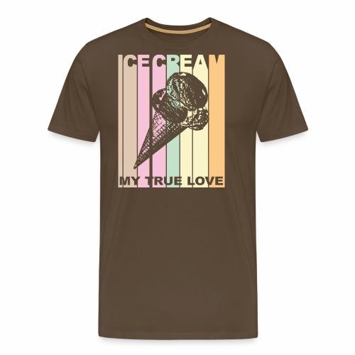 Ice Cream T-shirt Design im Vintage Look - Männer Premium T-Shirt