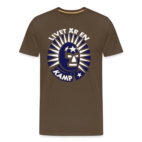 Livet är en kamp (2 tone) - Premium-T-shirt herr