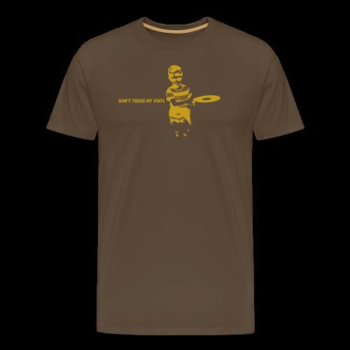 Don't touch my vinyl (goud) - Mannen Premium T-shirt
