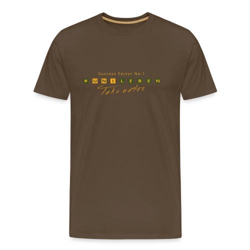 unileben herbstfarben gelb - grün - Männer Premium T-Shirt