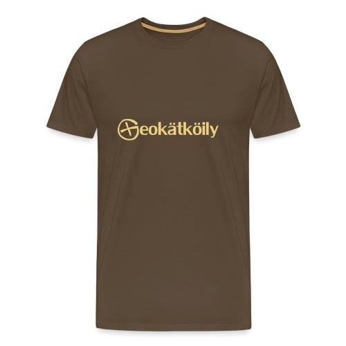 Geokatkoily - Miesten premium t-paita