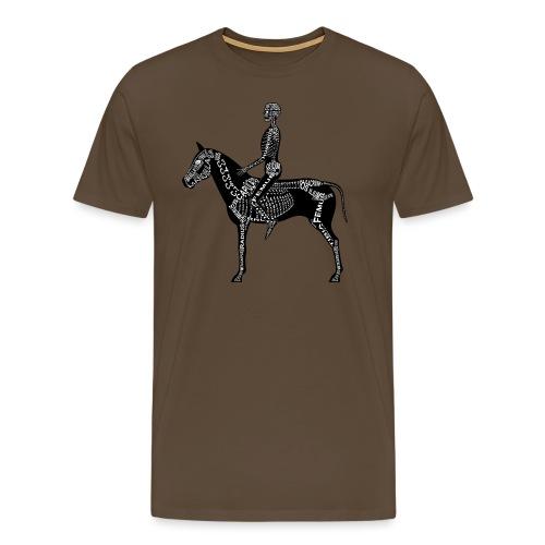 Reiter-Skelett - Premium T-skjorte for menn
