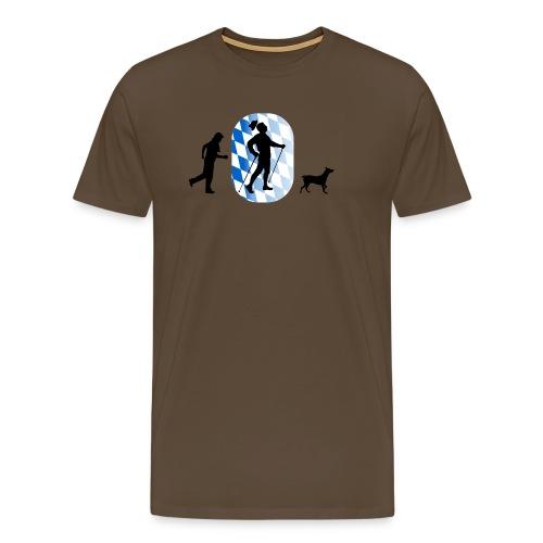 bayrischer nordic walker - Männer Premium T-Shirt