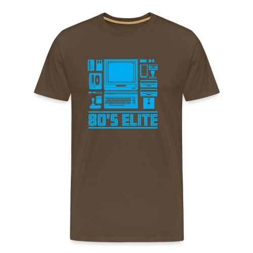 80's Elite Cyan - Men's Premium T-Shirt