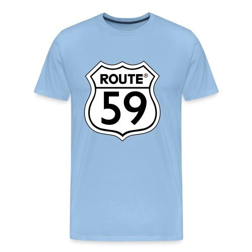 Route 59 zwart wit - Mannen Premium T-shirt