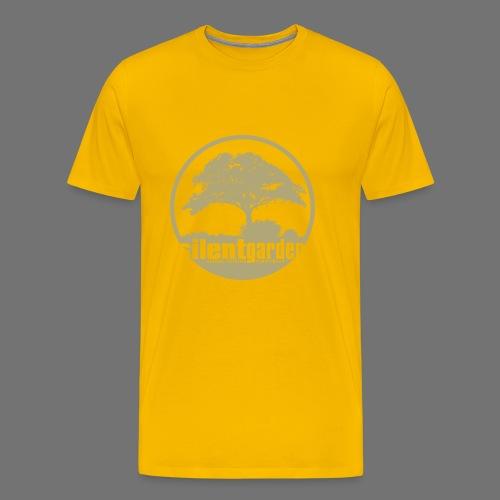 hiljainen puutarha (beige) - Miesten premium t-paita