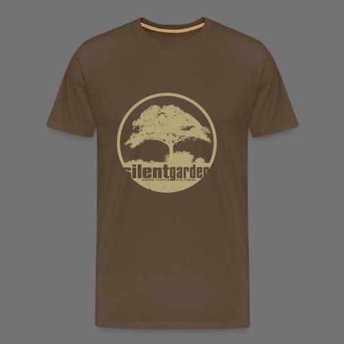 hiljainen puutarha (beige oldstyle) - Miesten premium t-paita