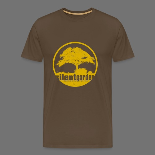hiljainen puutarha (keltainen oldstyle) - Miesten premium t-paita